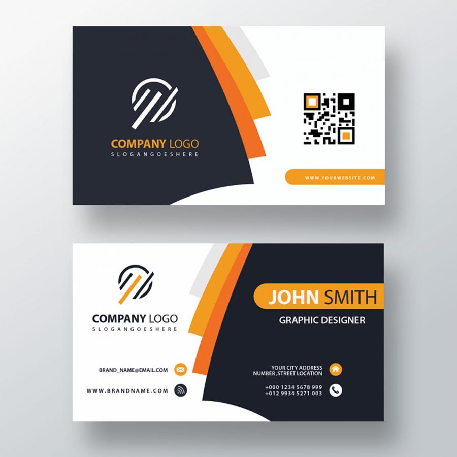 Современный дизайн визитки