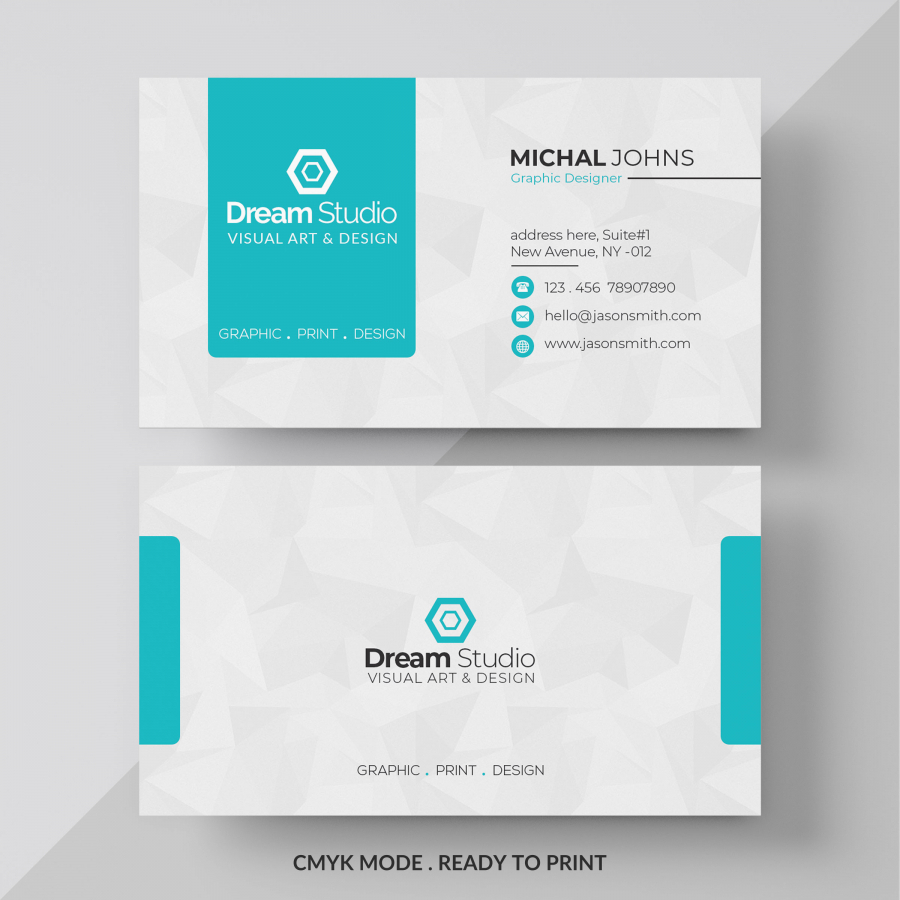 Макет бизнес визитки в PSD формате
