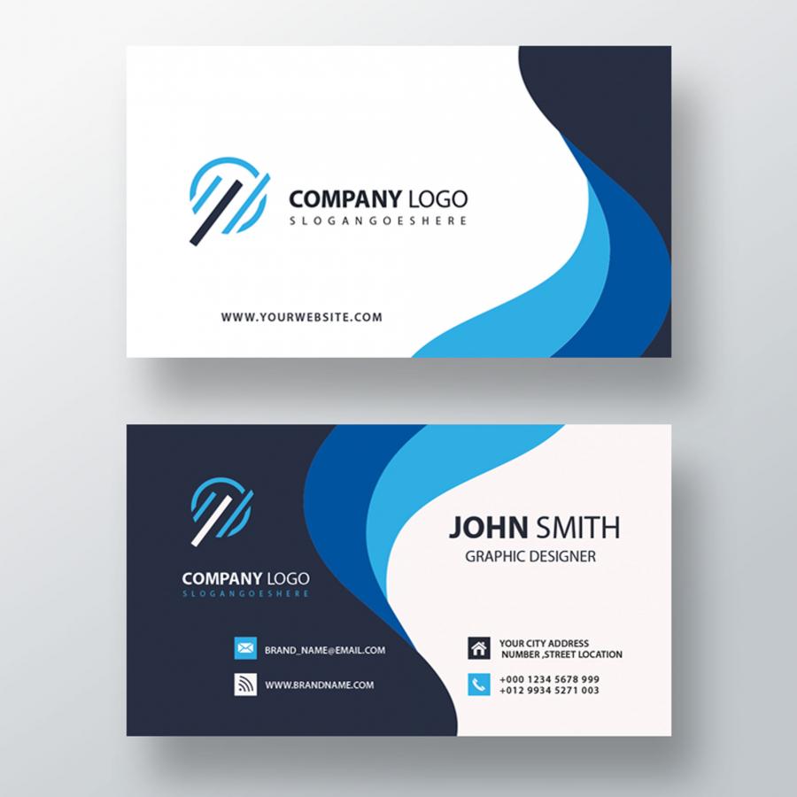 Макет бизнес визитки в формате PSD