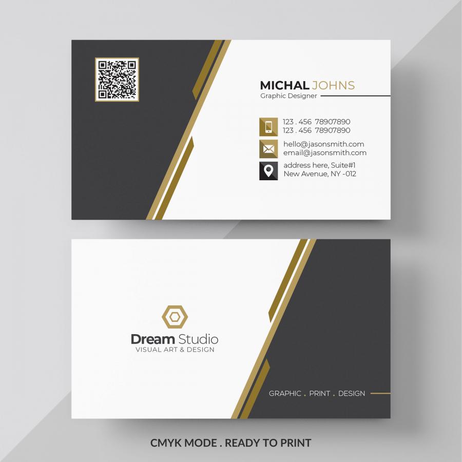 Макет визитки в формате PSD
