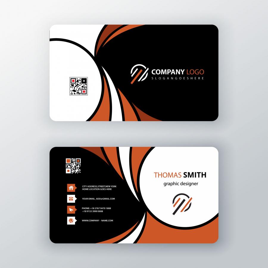 Макет дизайна визитки в формате PSD
