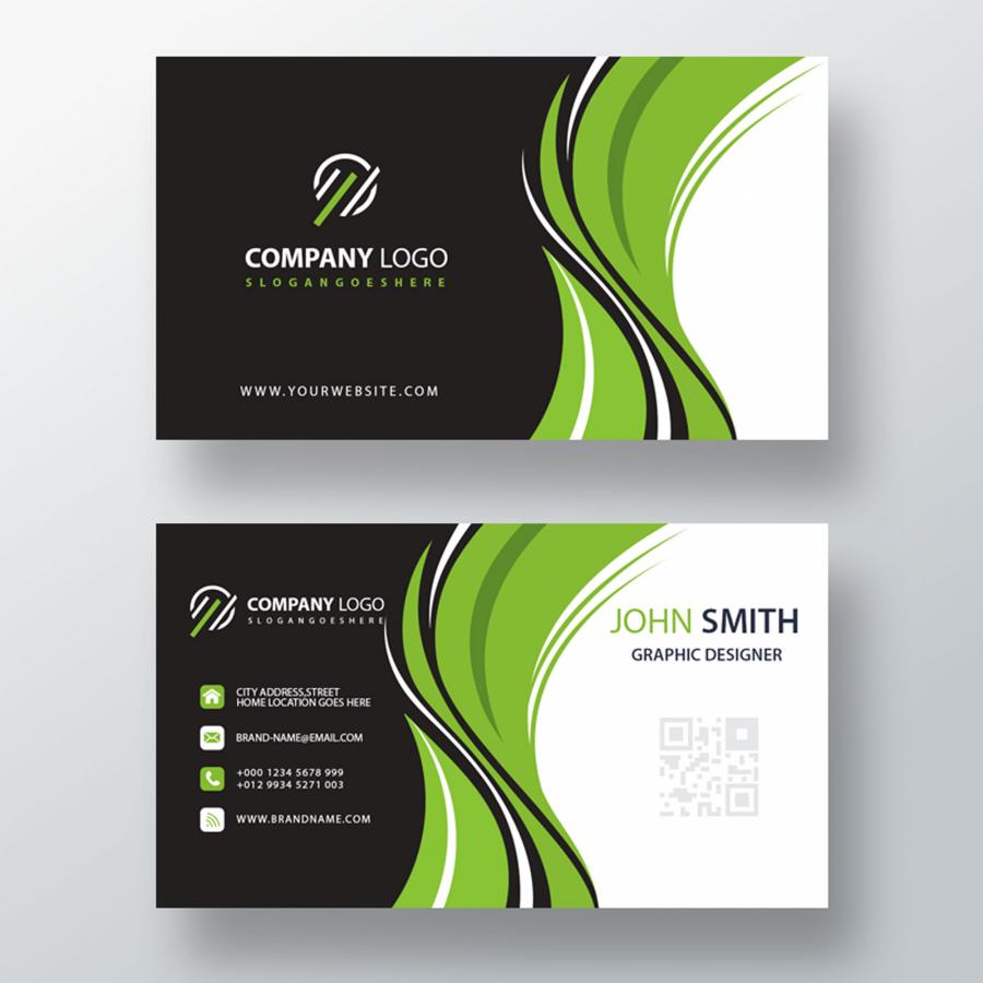 Фирменный макет визитки в формате PSD